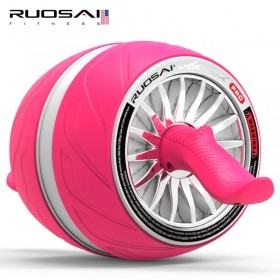 若赛500健腹巨轮腹肌轮收腹滚轮自动回弹健腹器静音健身器材俯卧撑轮