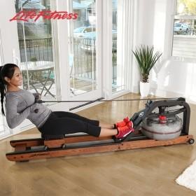 LifeFitness/力健进口纸牌屋水阻划船机室内健身器材家用划艇机HX 水阻 生物力学设计 木质和回火钢框架