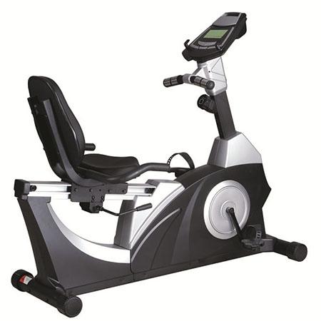 康乐佳9.5R卧式健身车静音家用磁控运动自行车老年人健身器材